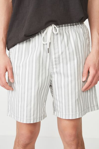 Easy Short, WHITE / GREY STRIPE