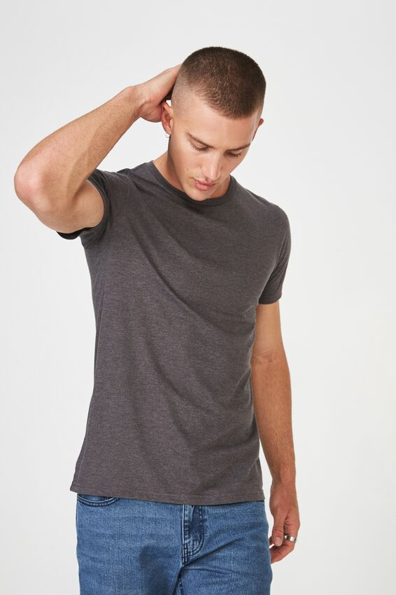 Essential Crew Tee, CHARCOAL MARLE