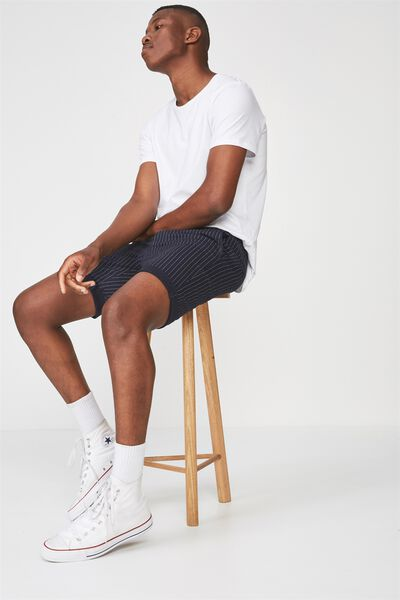 Washed Chino Short, NAVY/PINSTRIPE