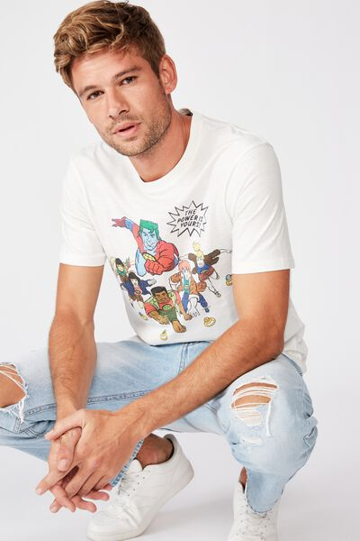 Tbar Collab Movie And Tv T-Shirt, LCN CAR VINTAGE WHITE/CAPTAIN PLANET - RINGS