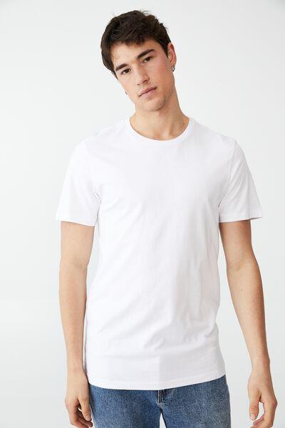 Organic Crew T-Shirt, WHITE