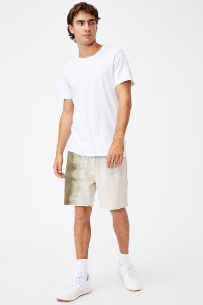 Premium Fleece Short, MILITARY/MOSS STONE DIP DYE