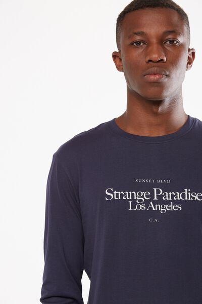 Tbar Long Sleeve, TRUE NAVY/STRANGE PARADISE