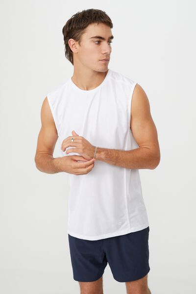 Active Tech Muscle, WHITE MESH