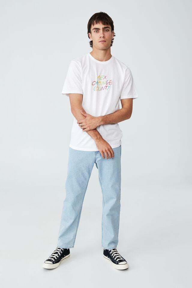Tbar Collab Icon T-Shirt, LCN BRA WHITE/REX ORANGE COUNTY-THE PONY TOUR