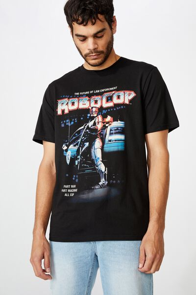 Tbar Collab Movie And Tv T-Shirt, LCN MGM BLACK/ROBOCOP - FUTURE