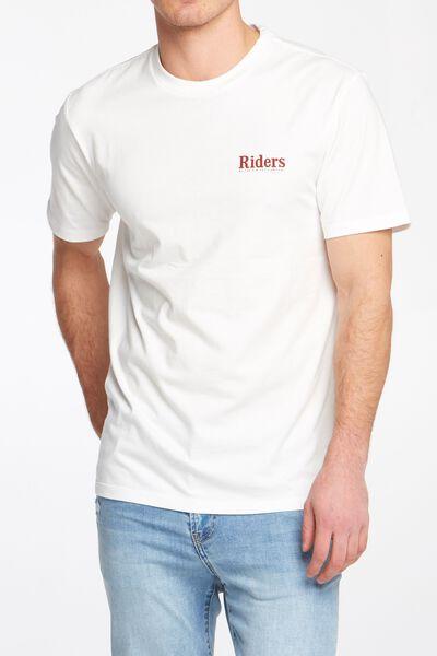 Riders By Lee Mens Trademark Tee, BONE