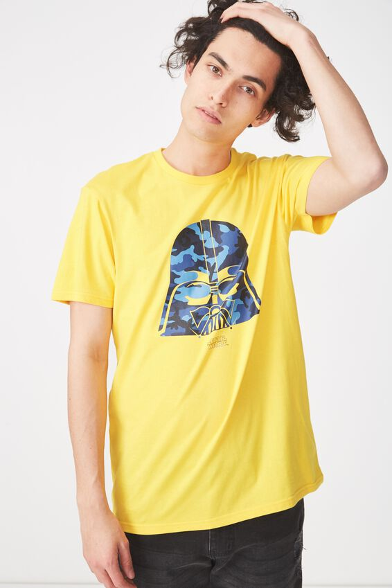 Tbar Collaboration Tee, LC SAFETY YELLOW/BLUE CAMO/DARTH HEAD