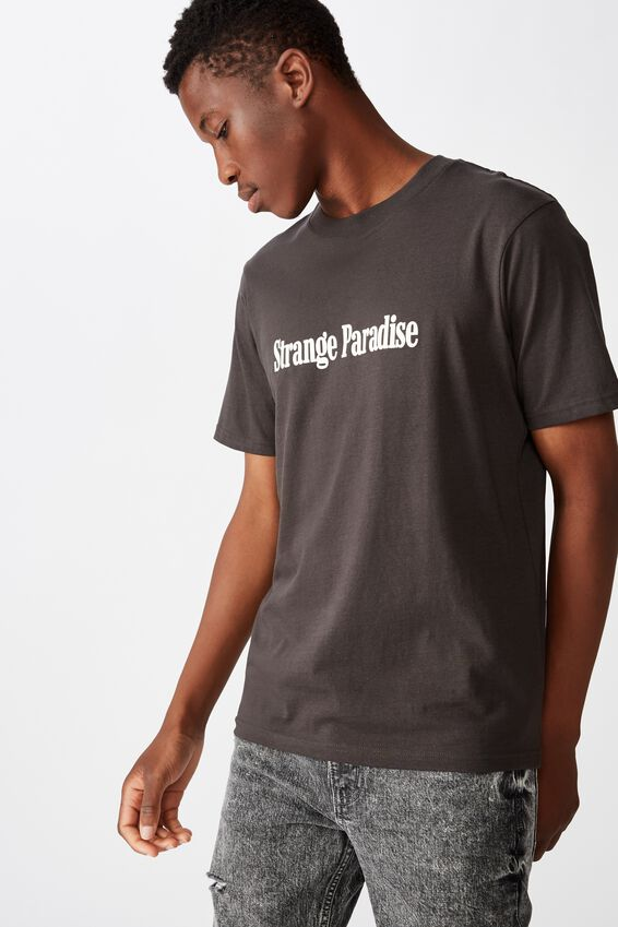 Tbar Text T-Shirt, SK8 WASHED BLACK/STRANGE PARADISE