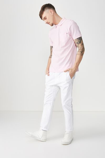 Icon Polo, POP PINK POCKET