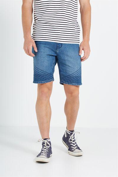Skinny Straight Short, MOTO COASTER BLUE