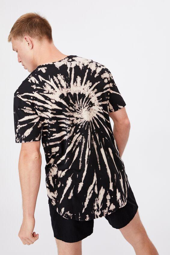 Longline Scoop Lounge T-Shirt, BLEACH TIE DYE