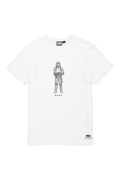 Tbar Collaboration Tee, LC WHITE/STORMTROOPER SKETCH