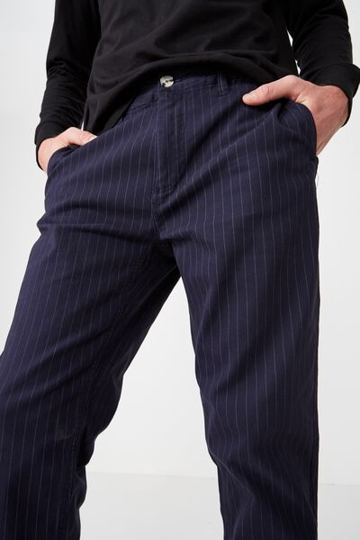 Knox Chino Pant, NAVY PIN STRIPE
