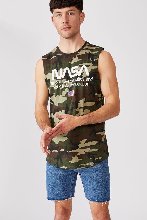 Longline Scoop Muscle, LCN NAS CAMO/NASA - LOGO