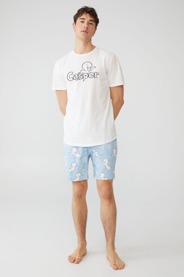 Lounge T-Shirt, LCN UNI VINTAGE WHITE/CASPER THE GHOST