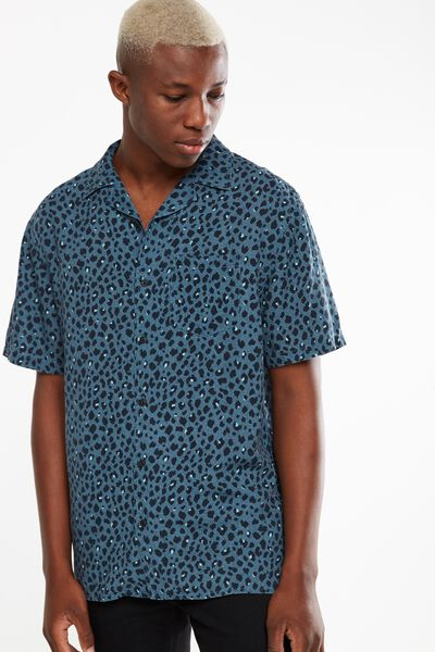 91 Short Sleeve Shirt, LEOPARD PRINT