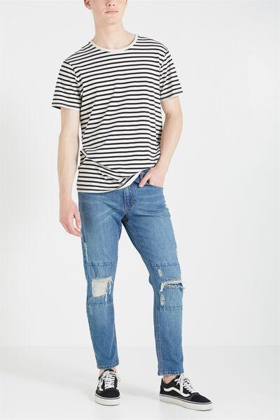 Slim Fit Jean, TRASHED BLUE CROP