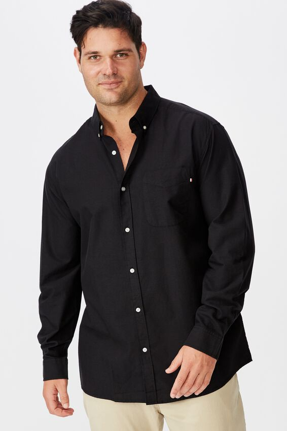 Brunswick Shirt, BLACK OXFORD