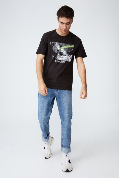 Tbar Collab Movie And Tv T-Shirt, LCN UNI WASHED BLACK/THE EXORCIST - BARF