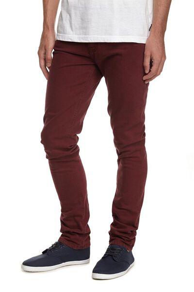 Slim Fit Jean, BURGUNDY