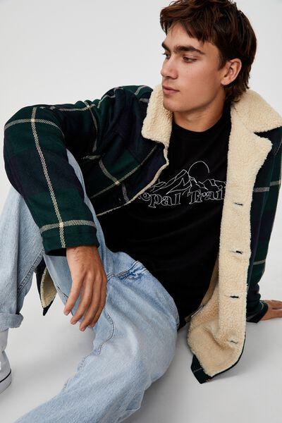 Ranch Jacket, GREEN NAVY CHECK