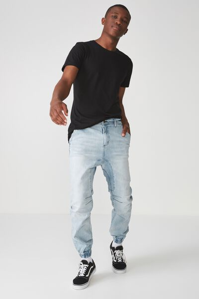 Slim Denim Jogger, WASHED OUT BLUES