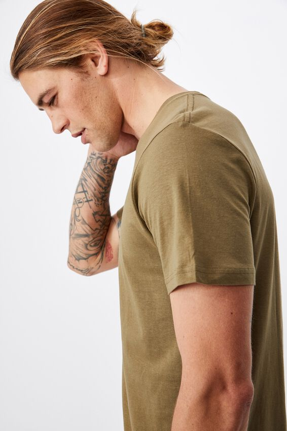 Essential Crew T-Shirt, JUNGLE KHAKI