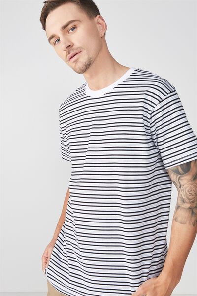 Dylan Tee, WHITE/BLACK/GREY STRIPE