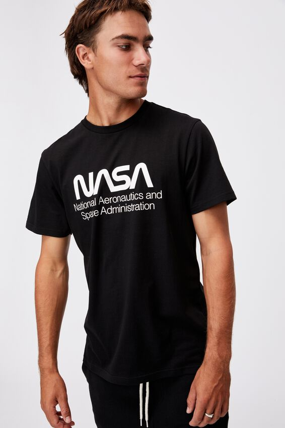 Tbar Collab Pop Culture T-Shirt, LCN NAS BLACK/NASA-SPACE ADMINISTRATION