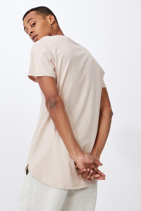 Essential Longline Scoop T-Shirt, ROSE DUST