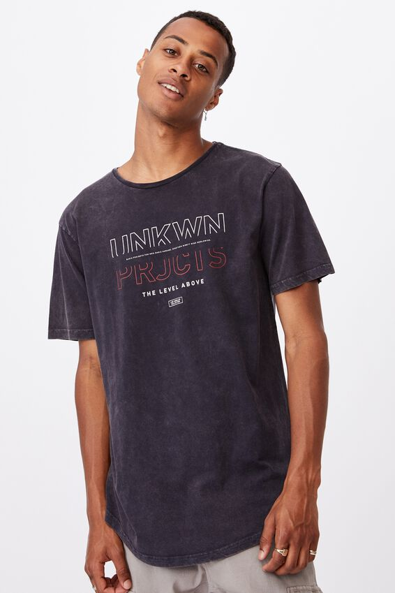 Longline Scoop T-Shirt, INK NAVY ACID/NINETEEN NINETY NINE