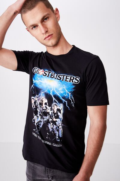 Tbar Collab Movie And Tv T-Shirt, LCN SO BLACK/GHOSTBUSTERS - WHO YOU GONNA CALL?