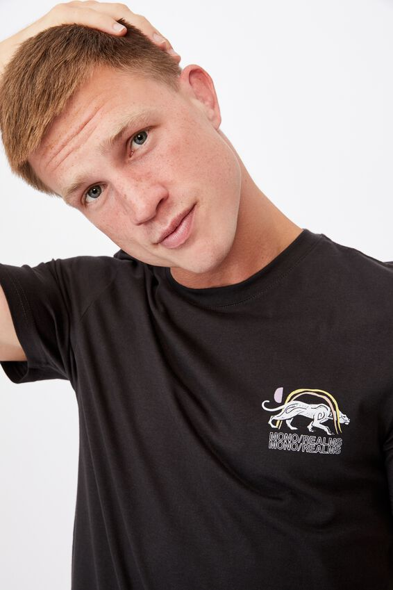 Tbar Art T-Shirt, WASHED BLACK/MONO REALMS
