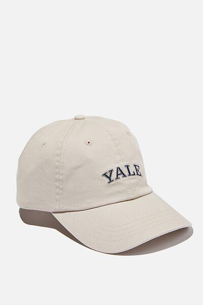 License Vintage Strap Back Cap, LCN YALE/VINTAGE WHITE