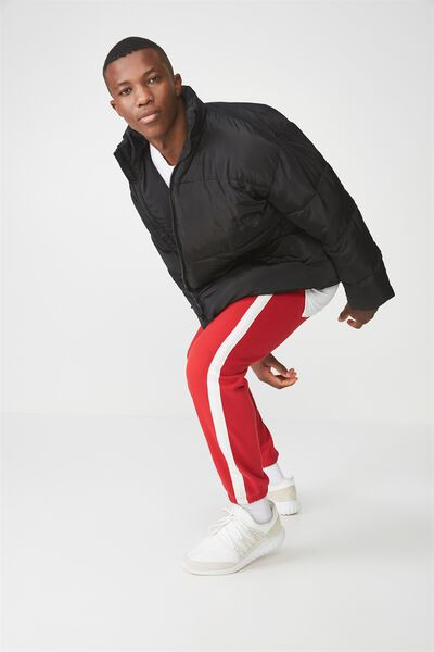 Classic Track Jogger, RED/WHITE STRIPE