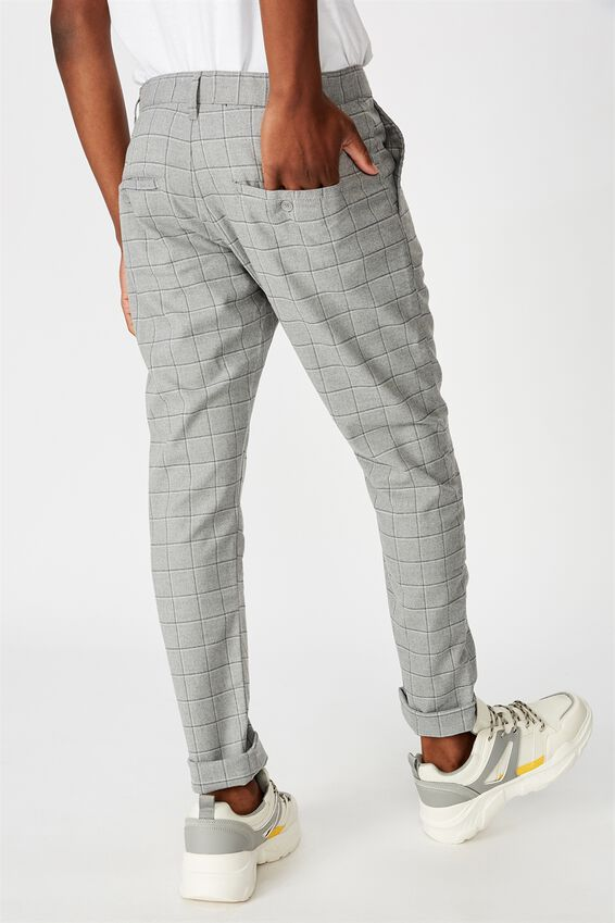 Skinny Stretch Chino, GREY WINDOW CHECK