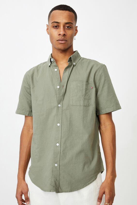 Vintage Prep Short Sleeve Shirt, SAGE