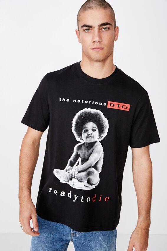 Tbar Collab Music T-Shirt, LCN MT SK8 BLACK BIGGIE - READY TO DIE