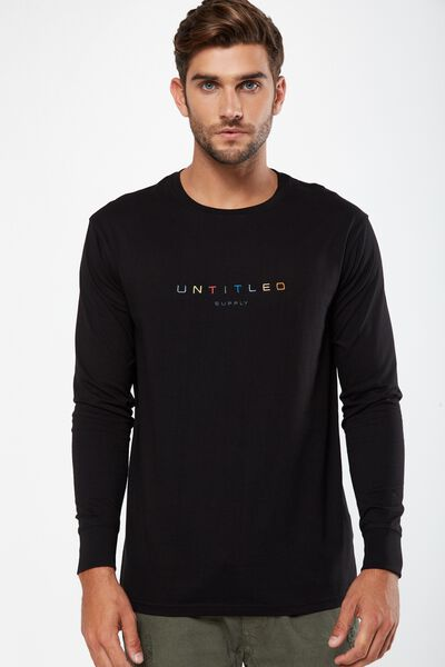 Tbar Long Sleeve, BLACK/UNTITLED SUPPLY