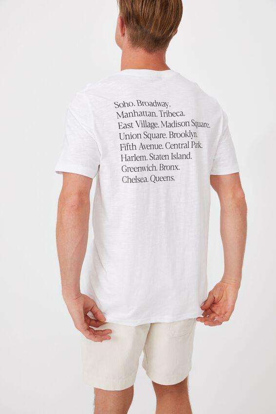 Tbar Street T-Shirt, WHITE SLUB/MODERN EDITION CIRCLE