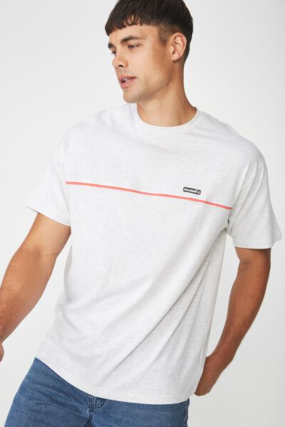 Downtown Loose Fit Tee, WHITE MARLE/NEULAB