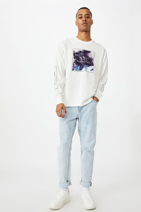 Tbar Long Sleeve T-Shirt, VINTAGE WHITE/NYC STATIC