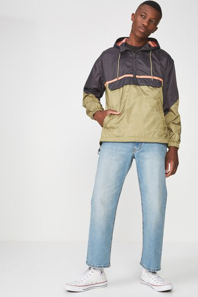 Drop Shoulder Pull Over, KHAKI CHARCOAL