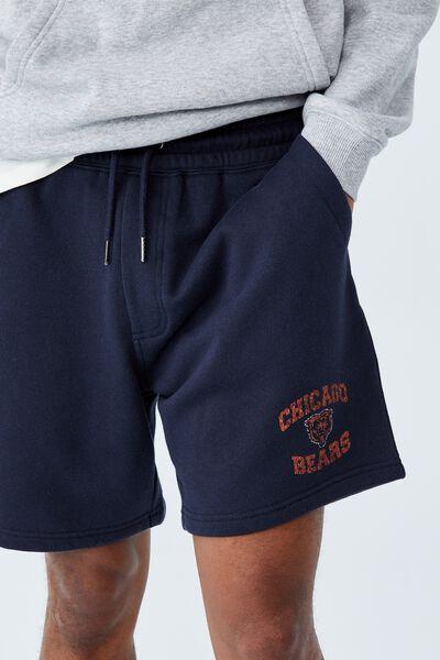 Active Nfl Fleece Short, LCN NFL TRUE NAVY/CHICAGO BEARS