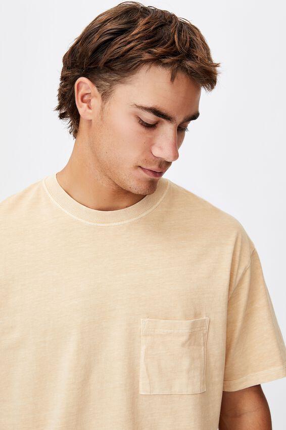 Washed Pocket T-Shirt, SUNBLEACH