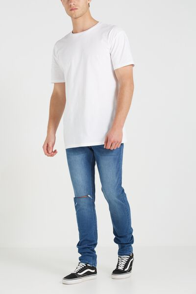Slim Fit Jean, NEVADA BLUE WITH RIPS