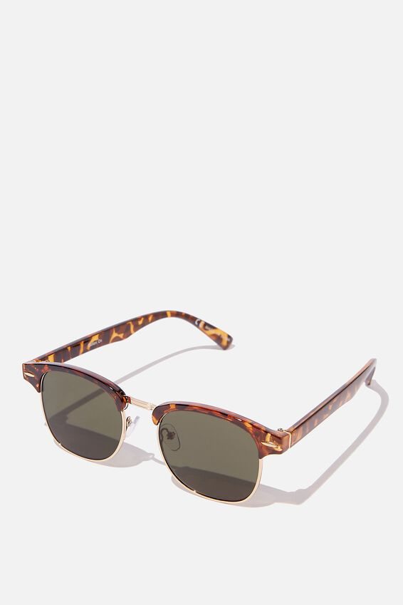 Leopold Sunglasses, TORT GOLD GREEN