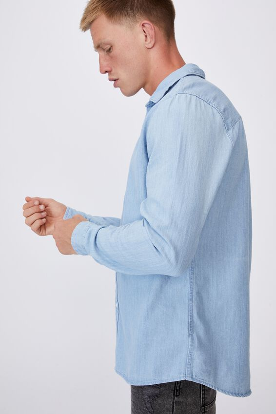 Fitzroy Denim Shirt, BURLEIGH BLUE