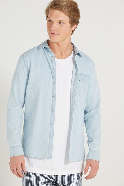 Brunswick Shirt 3, LIGHT BLUE CHAMBRAY